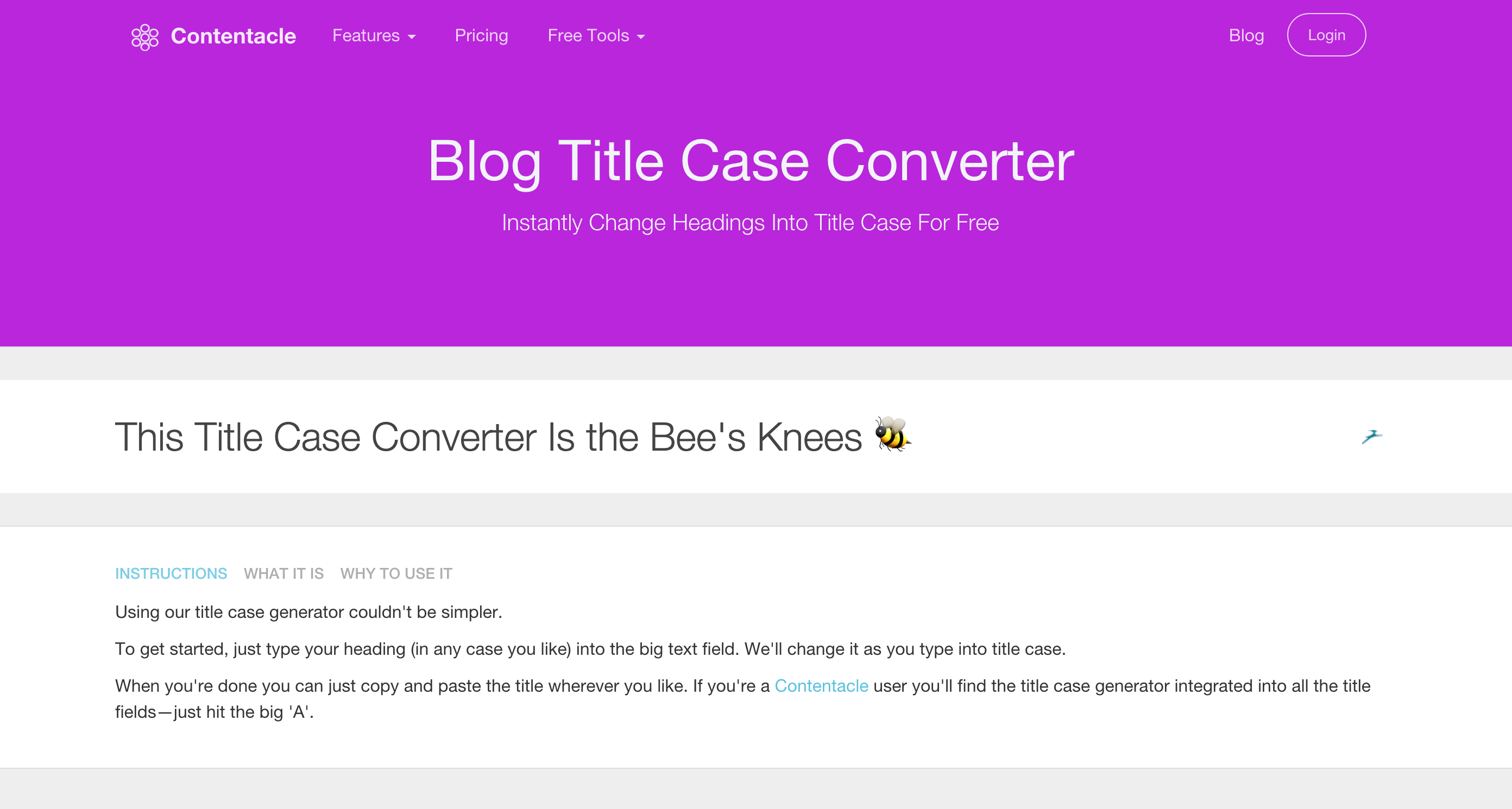 Contentacle Blog Title Case Converter