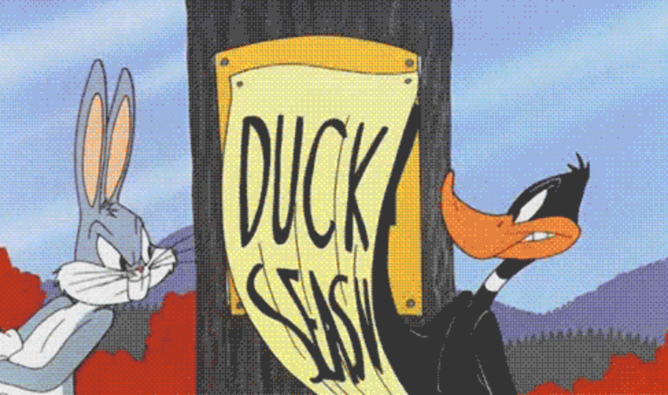 Daffy Duck takes offense to writing