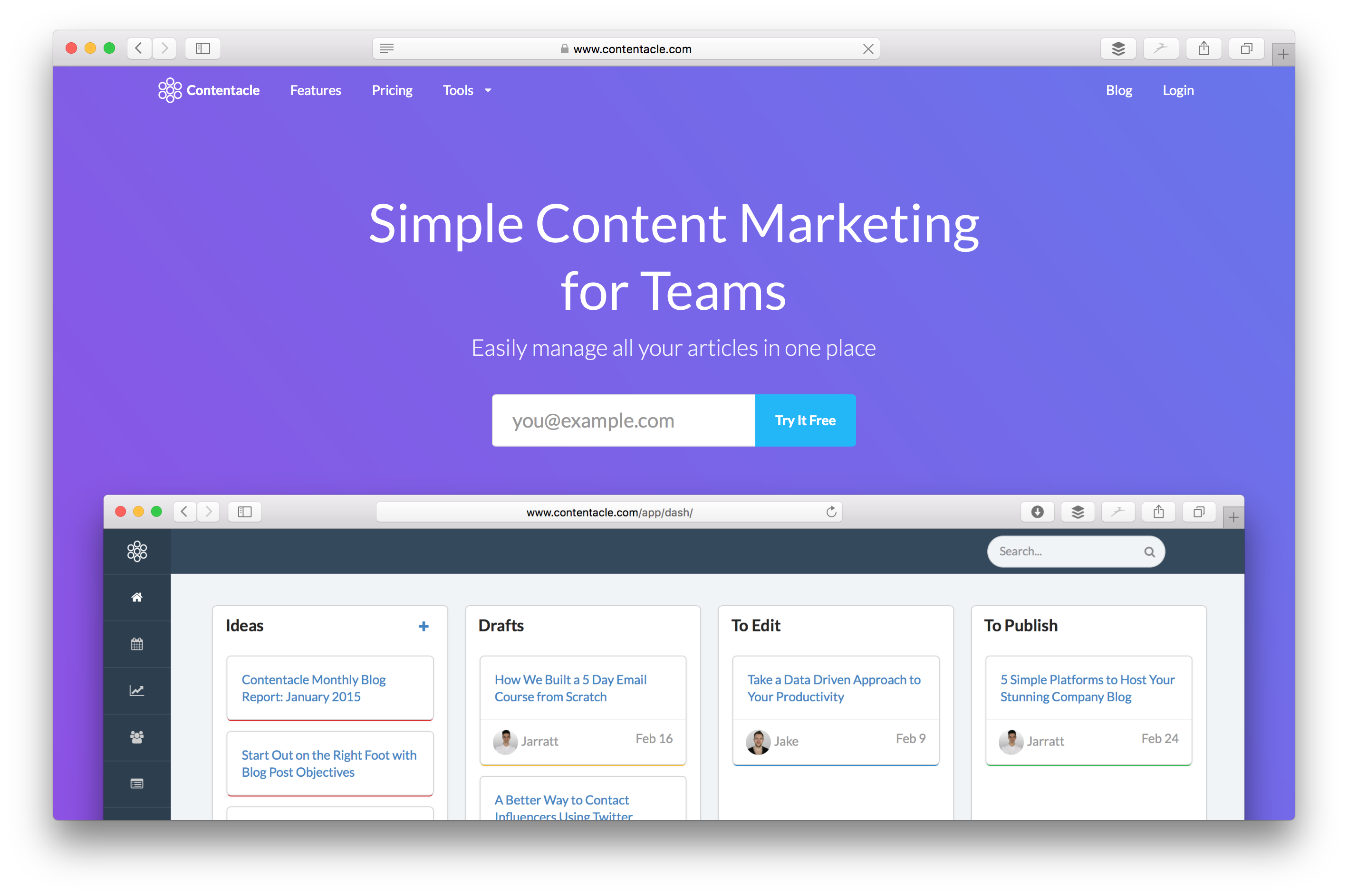 Contentacle: Simple Content Marketing Software For Teams